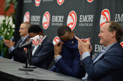 Dwight Howard Press Conference Atlanta Hawks