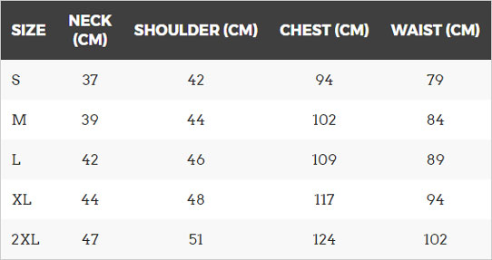 '47 Sizing Guide for T Shirts and Hoodies