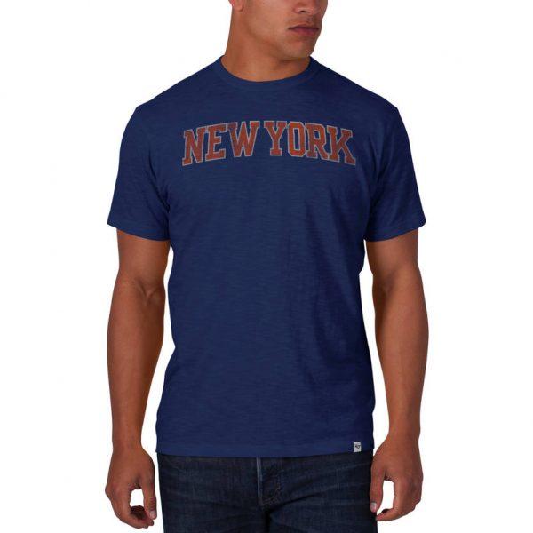 New York Knicks Bleacher Blue Scrum Tee
