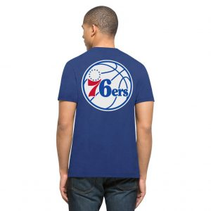 Philadelphia 76ers Royal MVP Splitter Tee Back