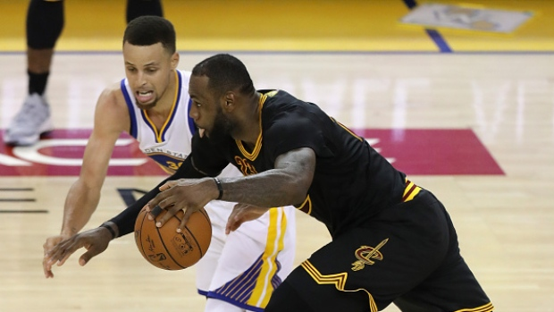 Golden State Steph Curry and Lebron James